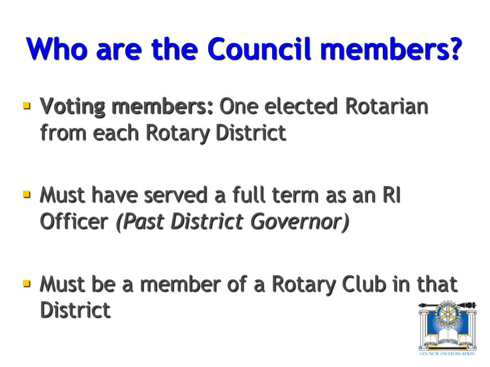 Who are the Council members