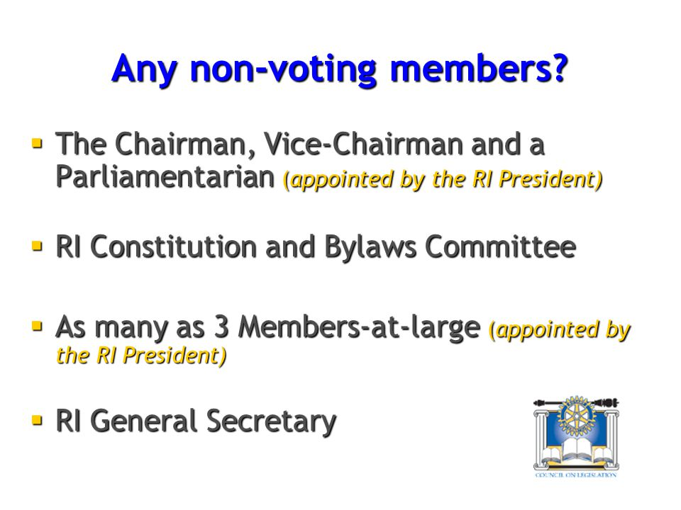 Any non-voting members