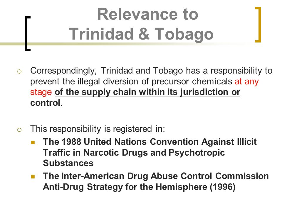 Relevance to Trinidad & Tobago