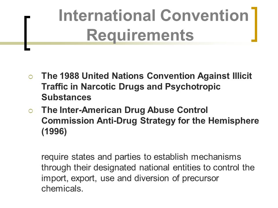 International Convention Requirements