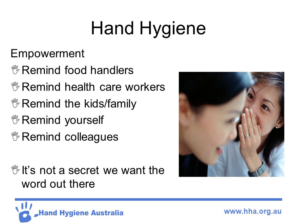 Hand Hygiene Empowerment Remind food handlers