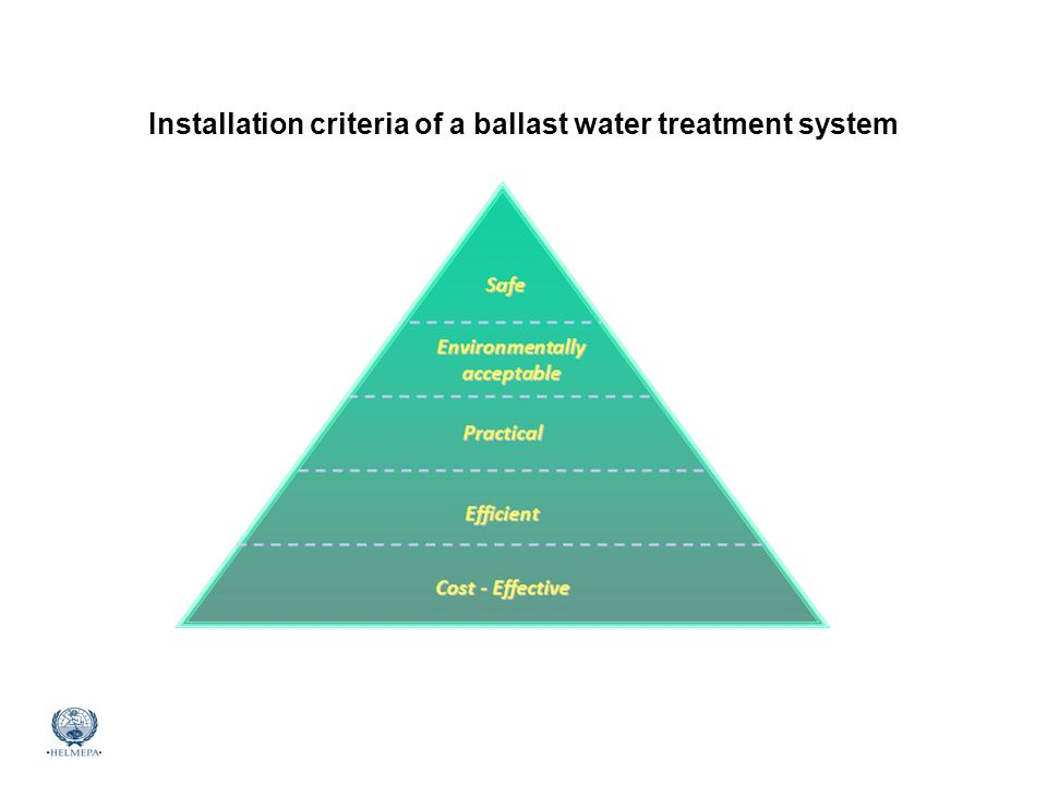 Installation criteria of a ballast water treatment system