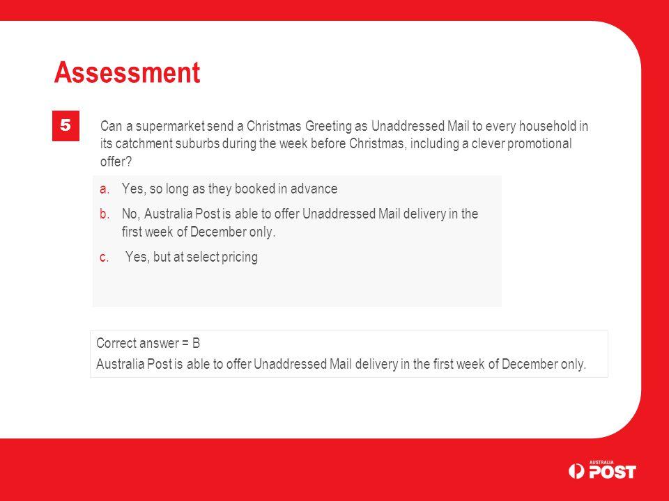 Assessment 5.