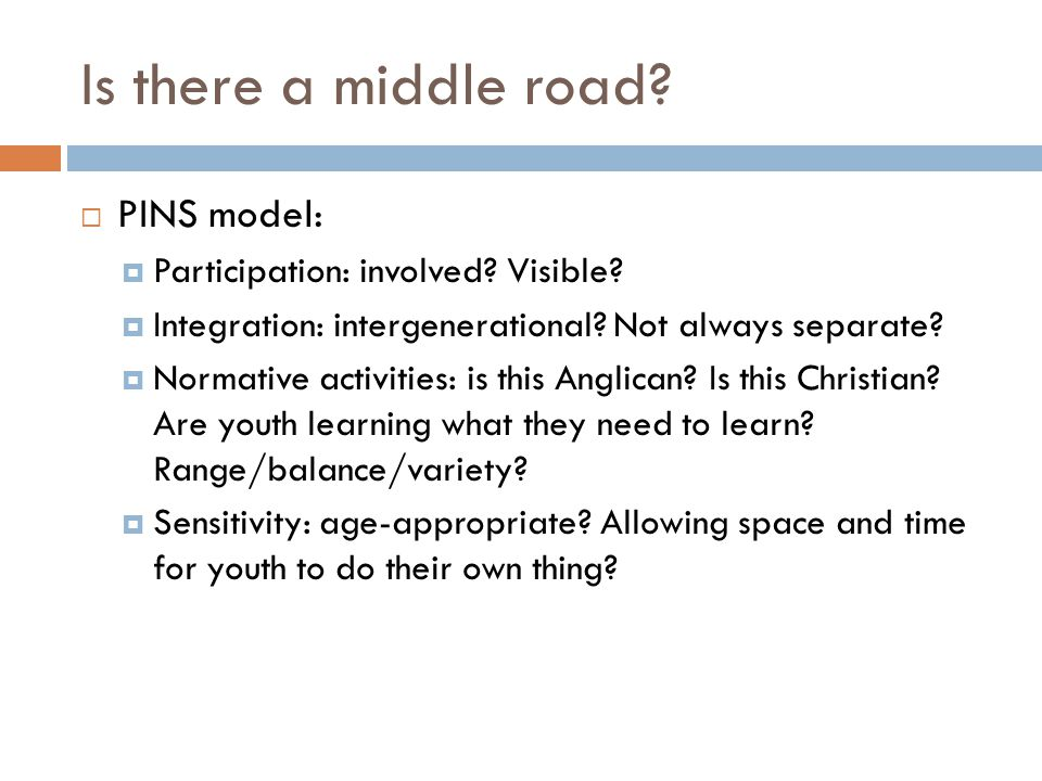 Is there a middle road PINS model: Participation: involved Visible