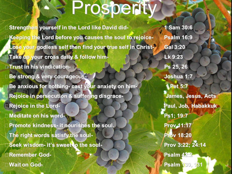 Maintaining Prosperity