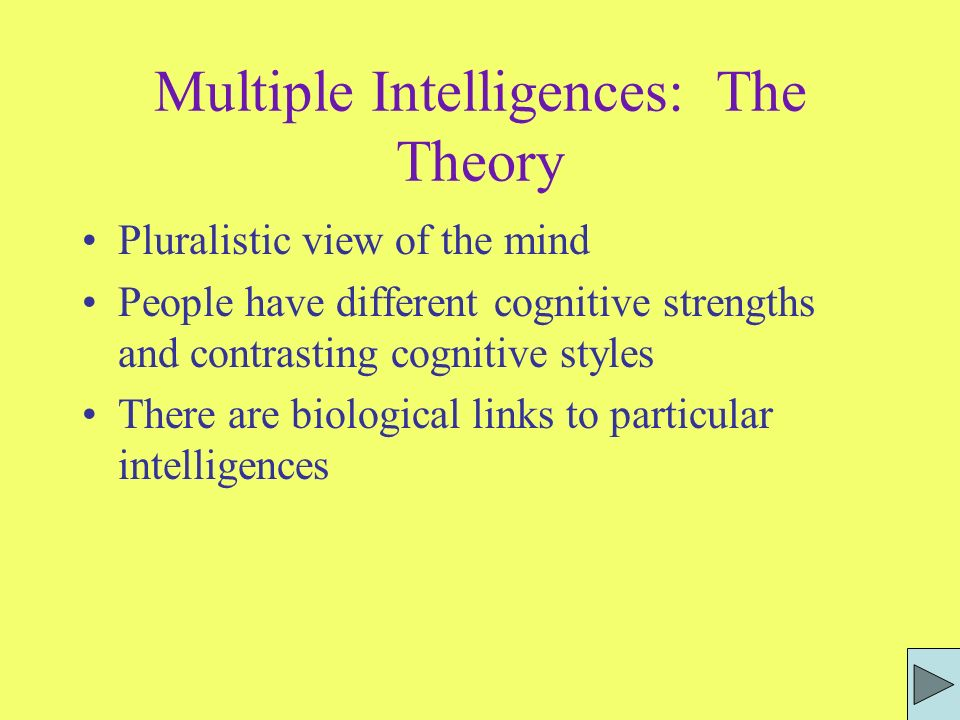 Multiple Intelligences: The Theory