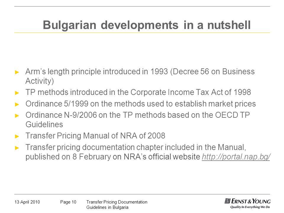 Bulgarian developments in a nutshell