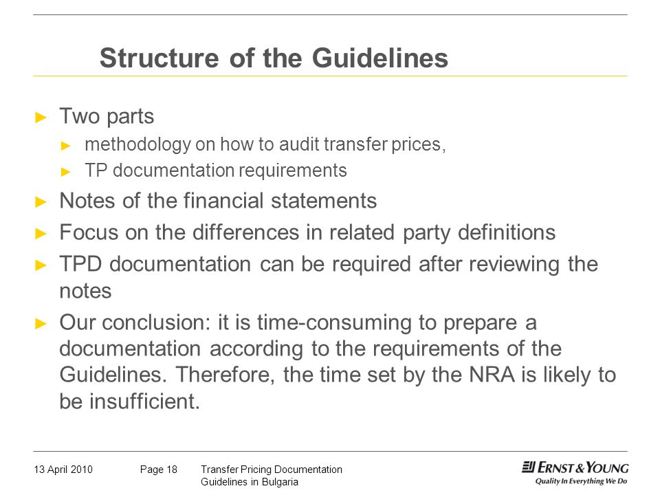 Structure of the Guidelines