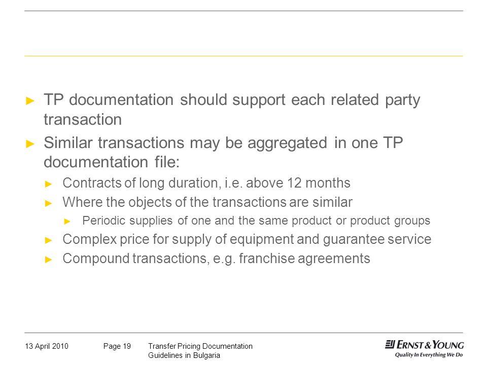 Aggregation of similar transactions