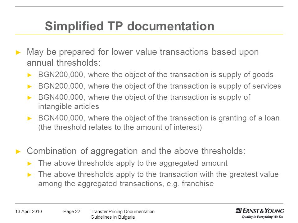 Simplified TP documentation