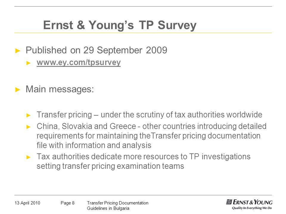 Ernst & Young's TP Survey
