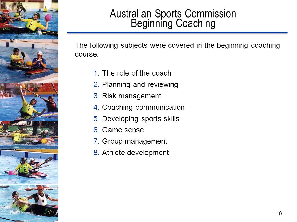 Australian Sports Commission Beginning Coaching