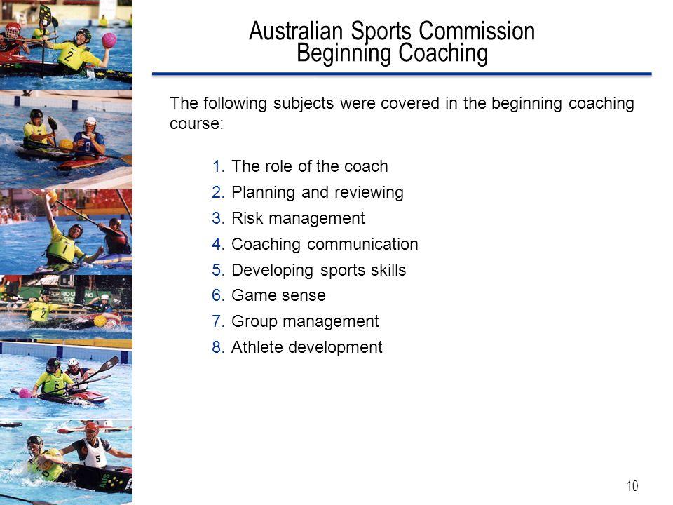 Australian Sports Commission Beginning Coaching