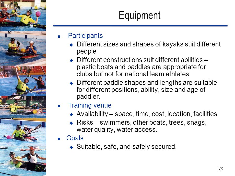 Equipment Participants