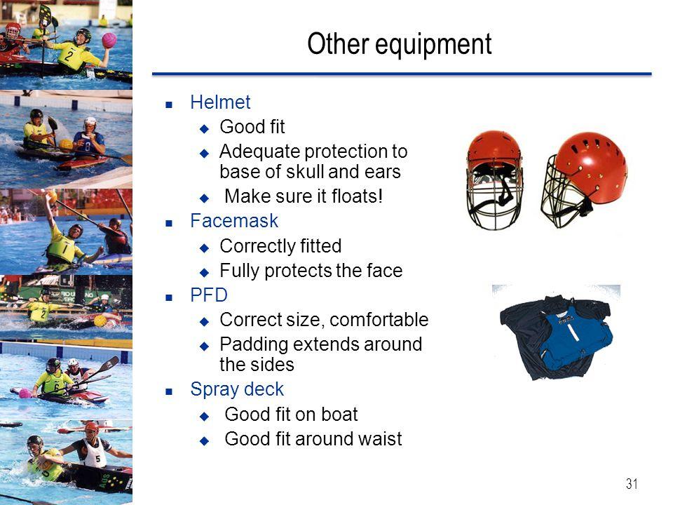 Other equipment Helmet Good fit