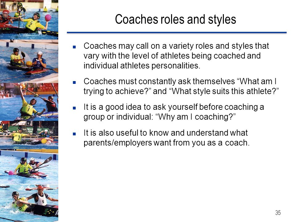 Coaches roles and styles
