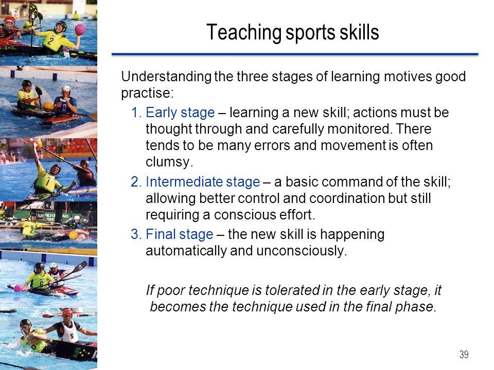 Teaching sports skills