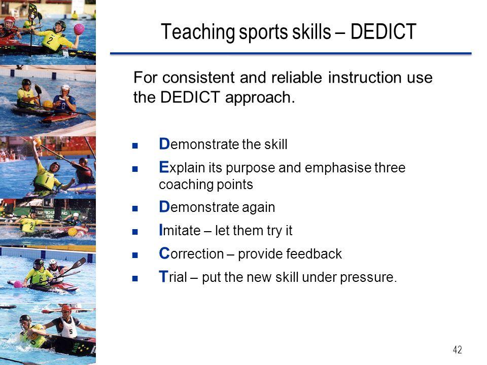 Teaching sports skills – DEDICT