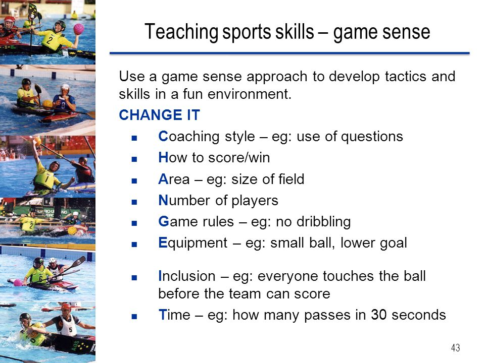 Teaching sports skills – game sense