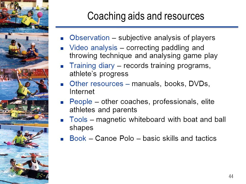 Coaching aids and resources