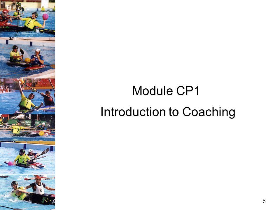 Module CP1 Introduction to Coaching