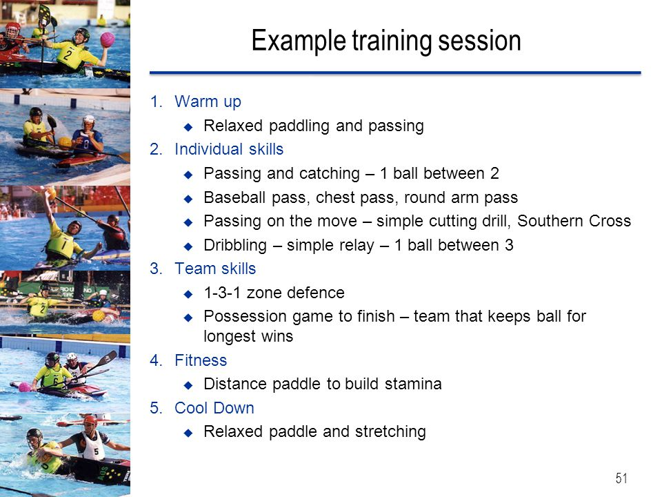 Example training session