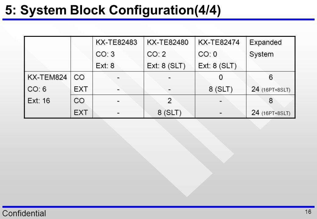 5: System Block Configuration(4/4)