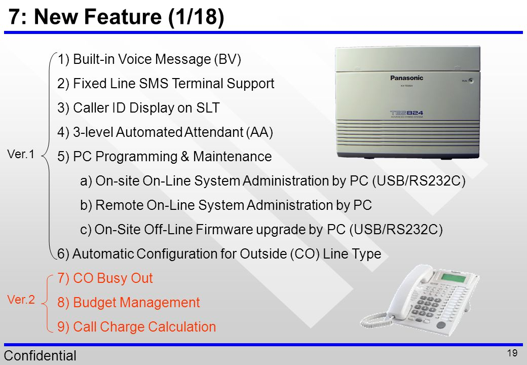 7: New Feature (1/18) 1) Built-in Voice Message (BV)