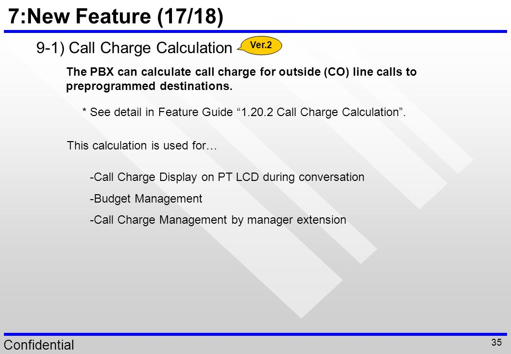 7:New Feature (17/18) 9-1) Call Charge Calculation