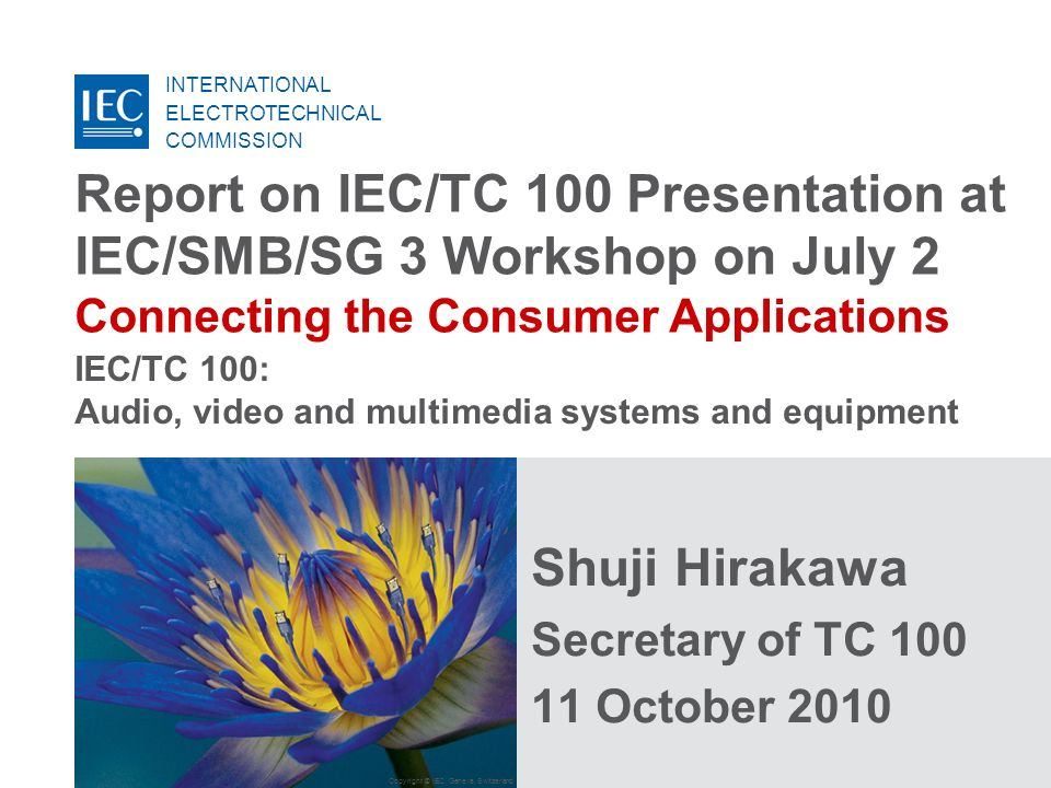 IEC/TC 100: Audio, video and multimedia systems and equipment