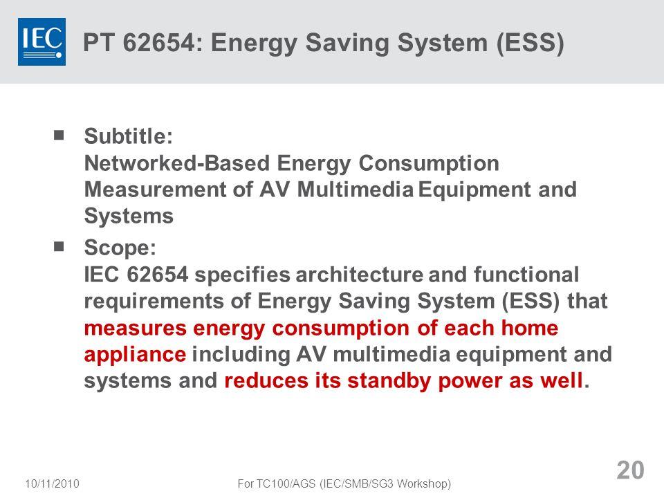 PT 62654: Energy Saving System (ESS)