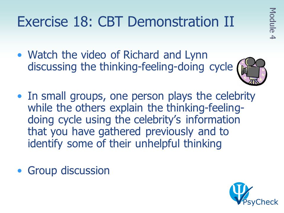 Exercise 18: CBT Demonstration II
