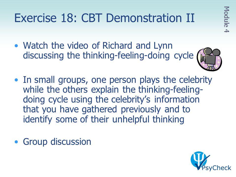 Exercise 18: CBT Demonstration II