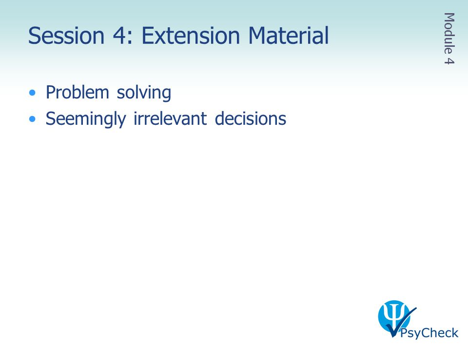 Session 4: Extension Material