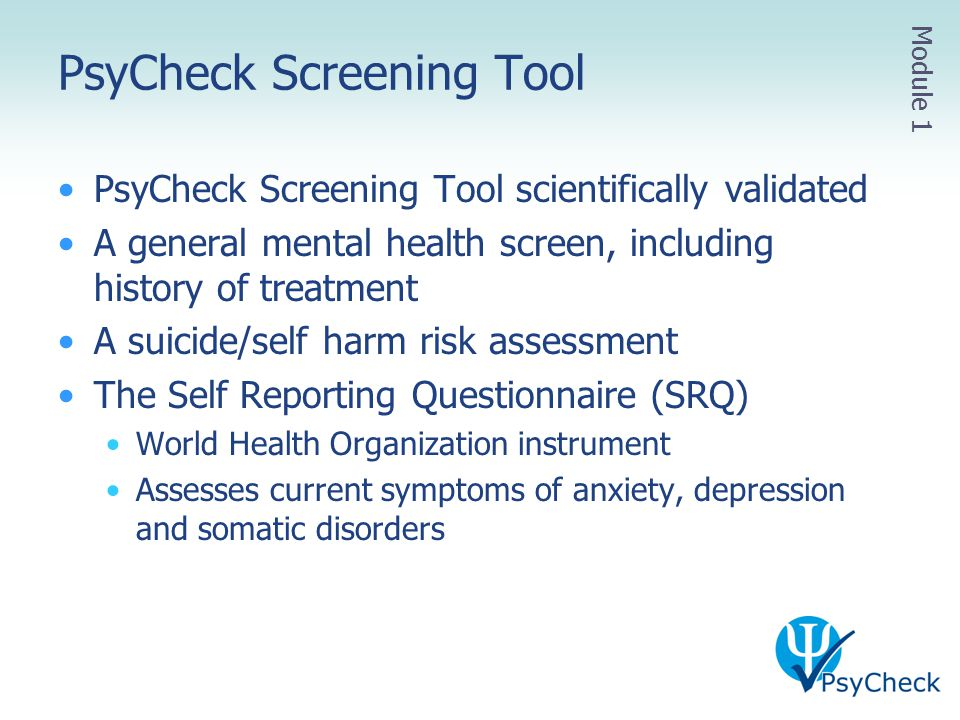PsyCheck Screening Tool