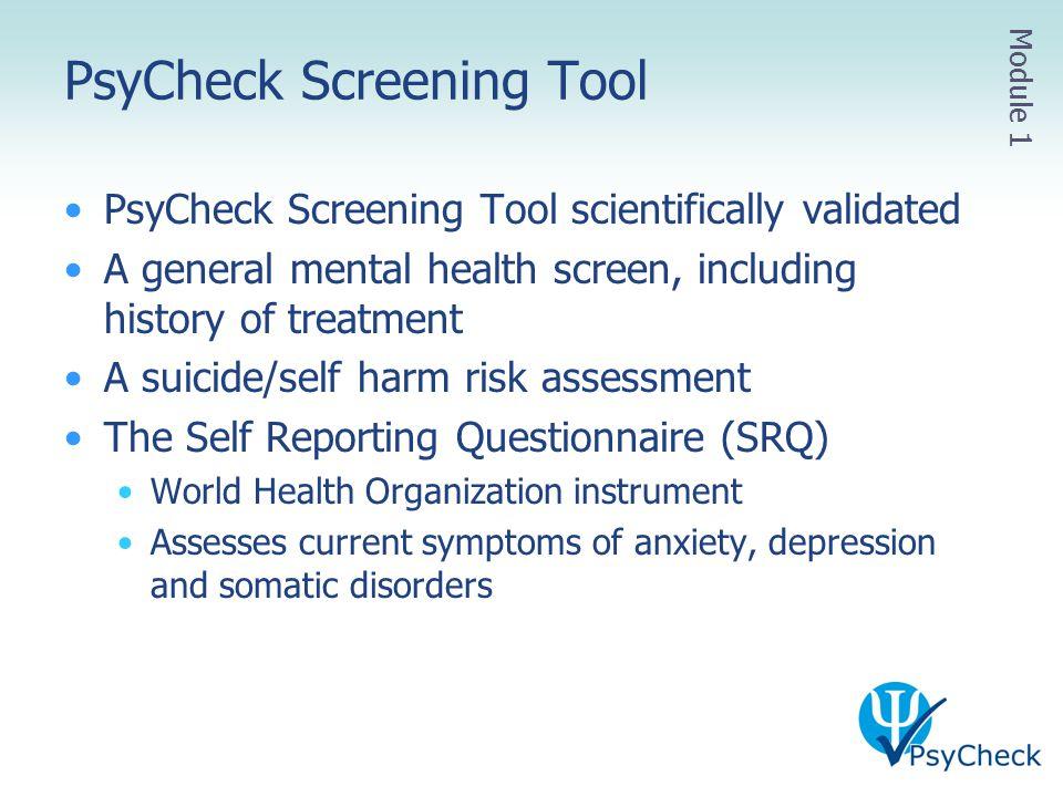 PsyCheck Screening Tool