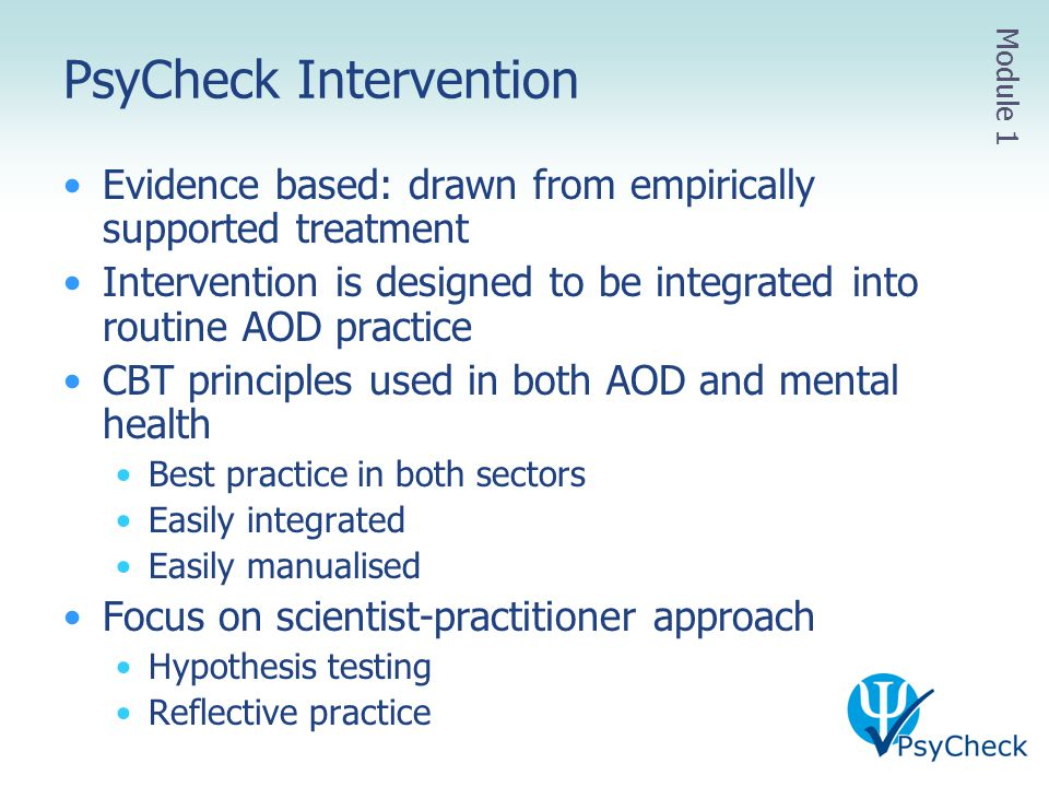 PsyCheck Intervention