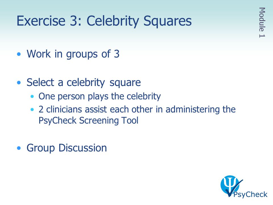 Exercise 3: Celebrity Squares