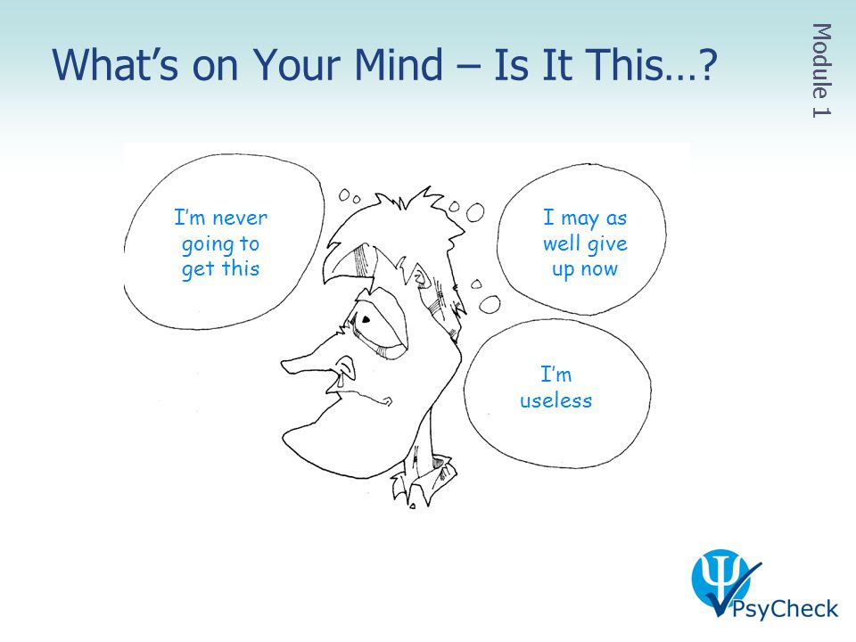 What's on Your Mind – Is It This…
