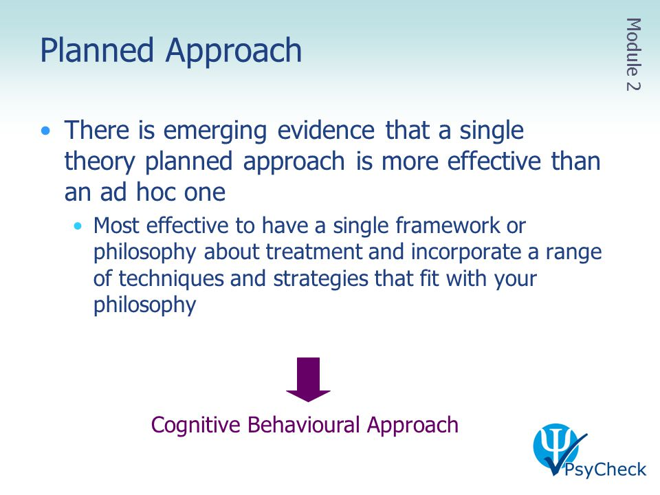 Cognitive Behavioural Approach