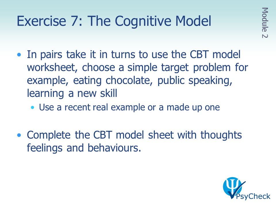 Exercise 7: The Cognitive Model