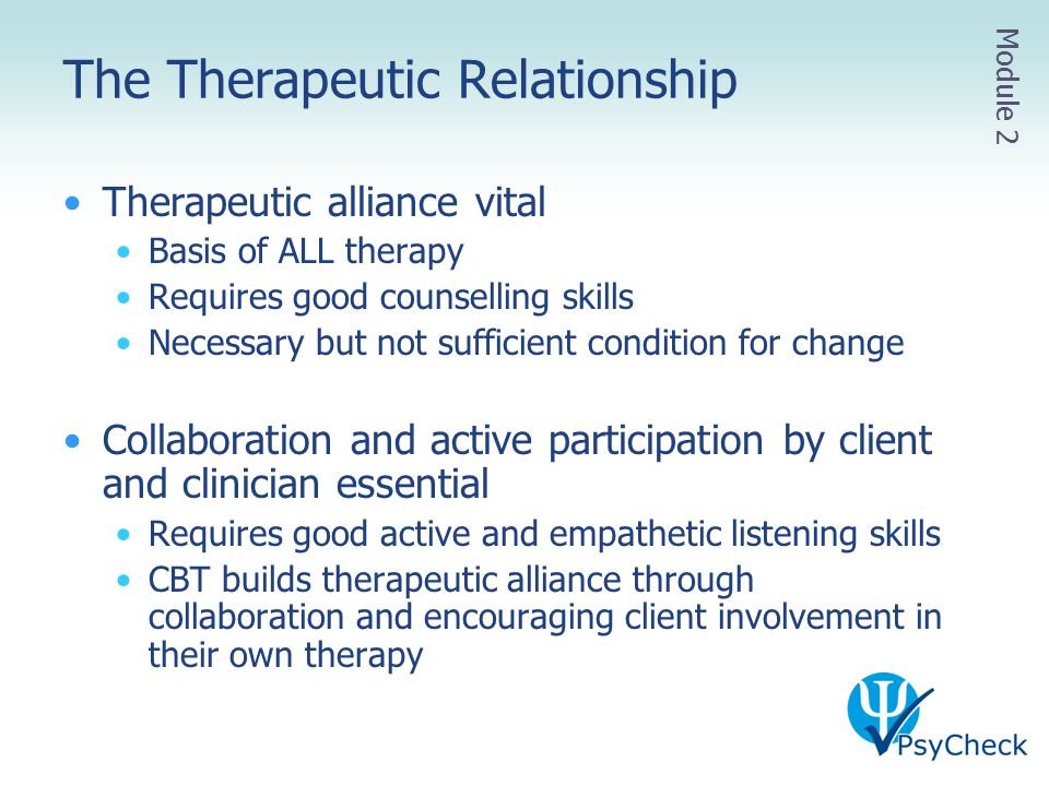 therapeutic relationship is necessary and sufficient