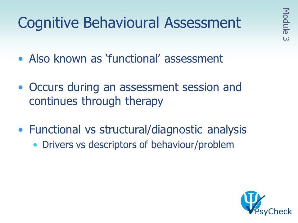 Cognitive Behavioural Assessment