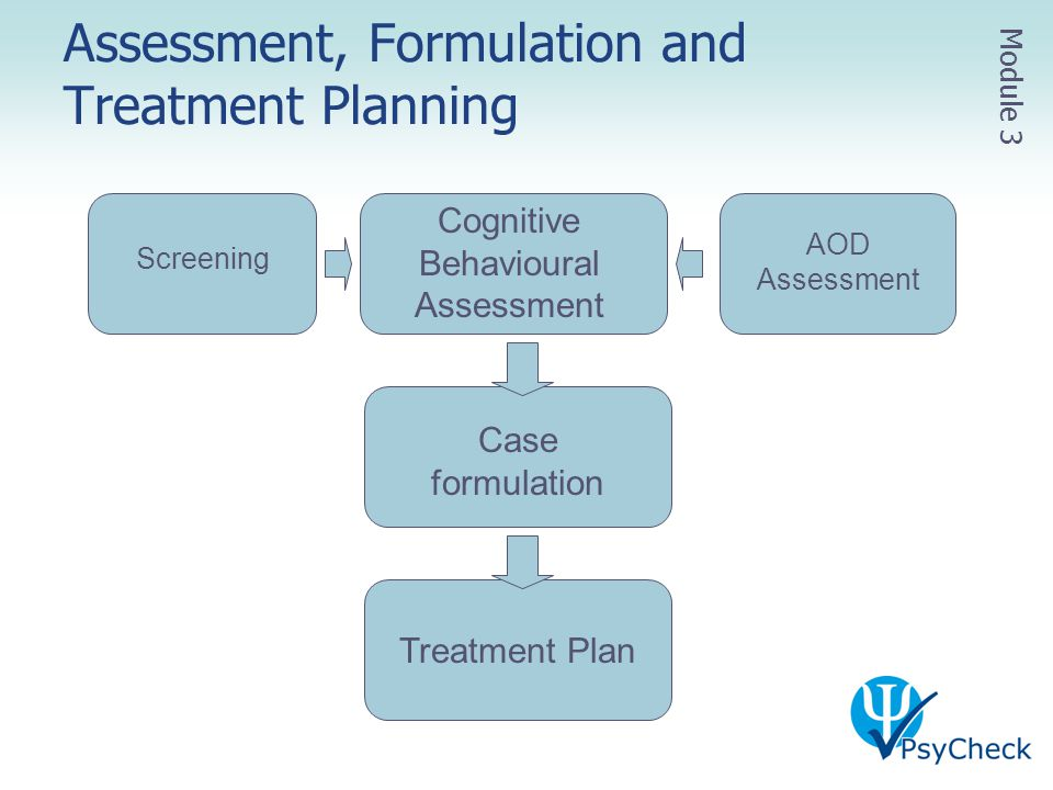 Assessment, Formulation and Treatment Planning