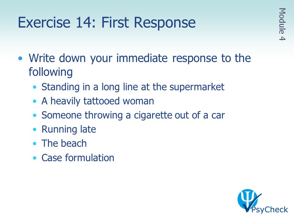 Exercise 14: First Response