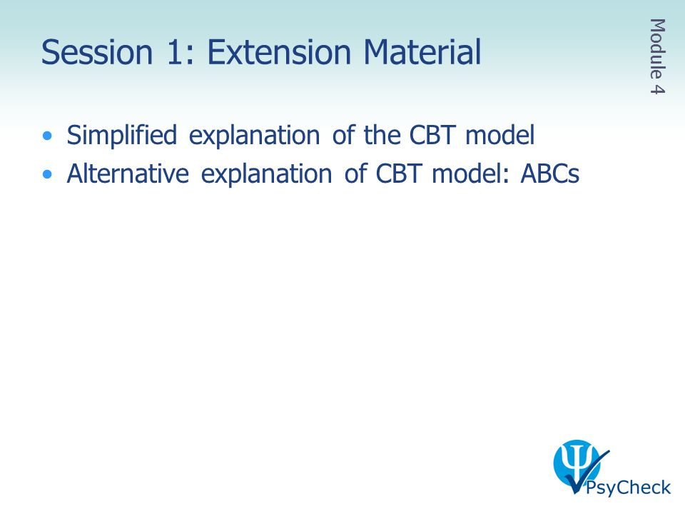 Session 1: Extension Material