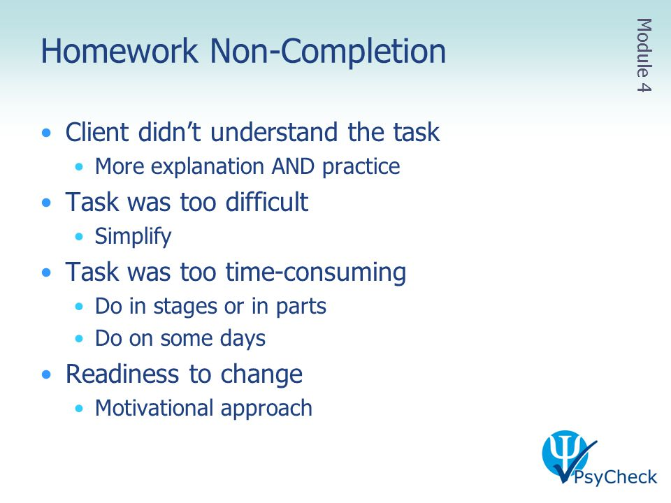 Homework Non-Completion