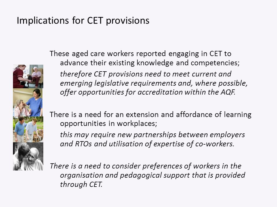 Implications for CET provisions