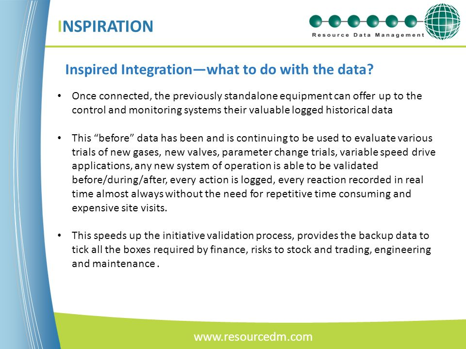 INSPIRATION Inspired Integration—what to do with the data