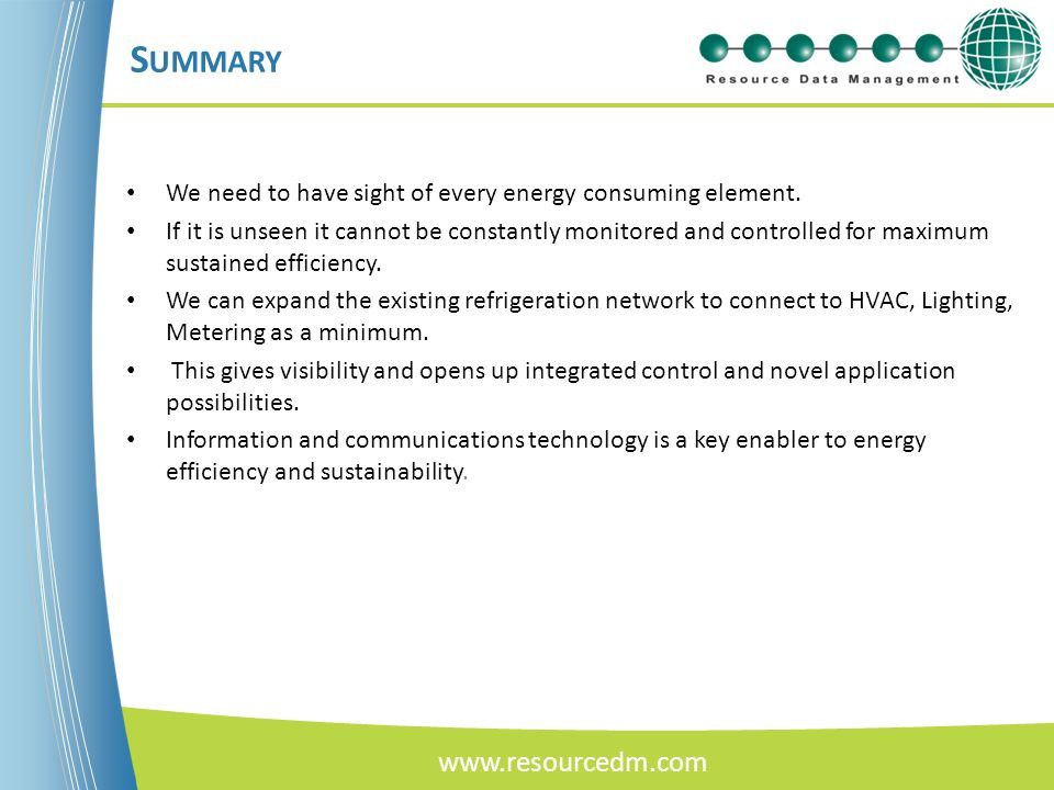 Summary www.resourcedm.com